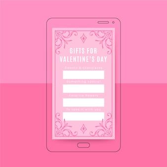 Modèle de saint valentin histoire instagram élégante ornementale