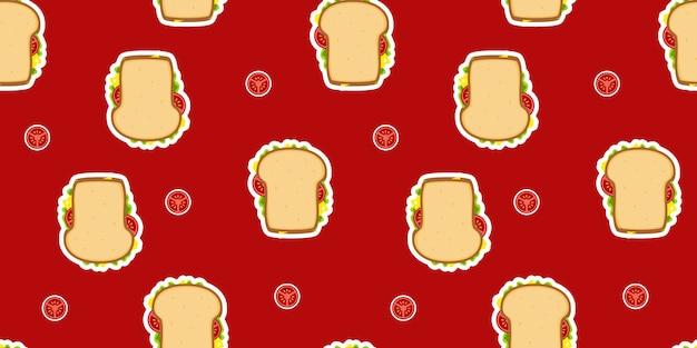Modèle sandwich pain de blé sans soudure