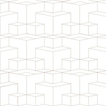 Modèle sans couture abstrait 3d grille géométrique