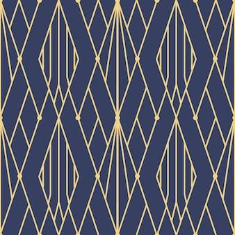 Modèle sans couture abstrait art déco bleu