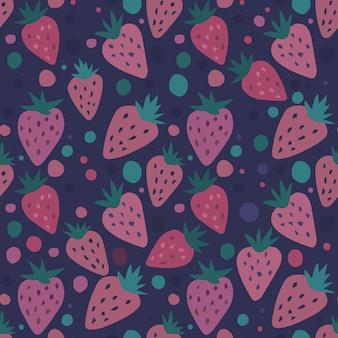 Modèle sans couture abstrait aux fraises