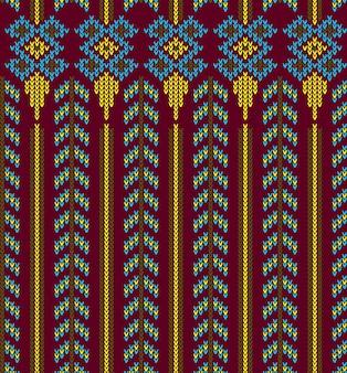 Modèle sans couture abstrait aztèque tribal