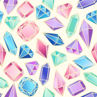 Modèle sans couture abstrait avec des cristaux