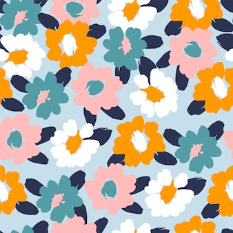 Modèle sans couture abstrait floral