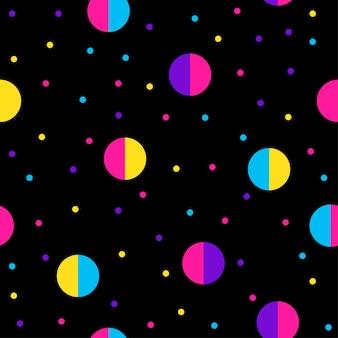 Modèle sans couture abstrait. fond d'échantillon moderne pour carte d'anniversaire, invitation de fête d'enfants, papier peint, papier d'emballage de vacances, affiche de vente de magasin, tissu, impression de sac, t-shirt, publicité d'atelier