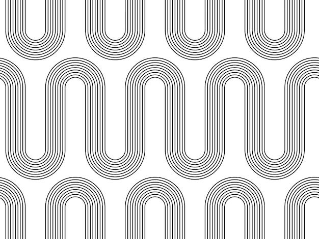 Modèle sans couture abstrait géométrique boho