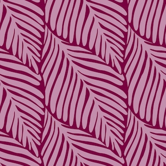 Modèle sans couture abstrait jungle rose. plante exotique. impression tropicale, feuilles de palmier vector background floral.
