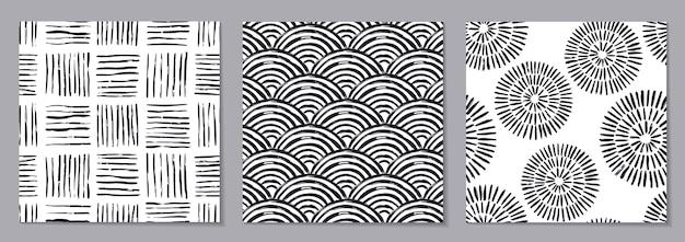 Modèle sans couture abstrait noir et blanc