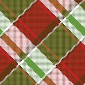 Modèle sans couture abstrait pixel plaid asimétrique