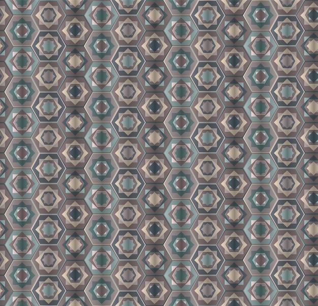 Modèle sans couture abstraite hexagones gris poussiéreux