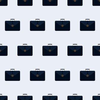 Modèle sans couture d'affaires valise. valise pour documents et ordinateur portable. contexte pour les affaires. style plat. vecteur.