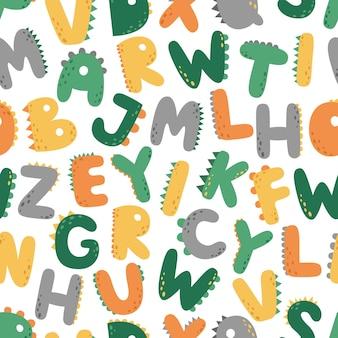 Un modèle sans couture amusant avec des lettres