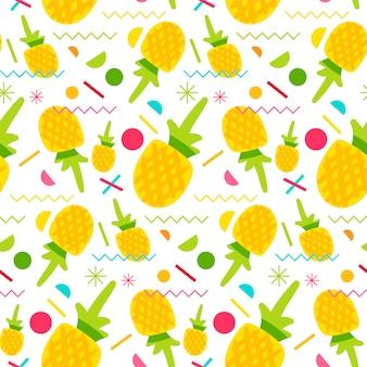 Modèle sans couture d'ananas sucré