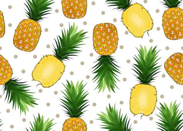 Modèle sans couture d'ananas