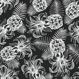 Modèle sans couture d'ananas.