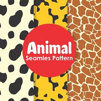 Modèle sans couture d'animal
