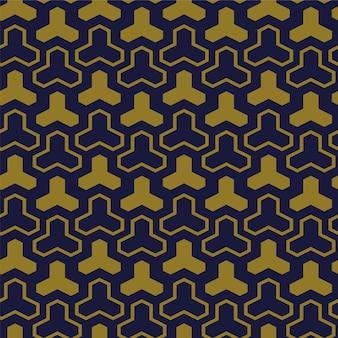 Modèle sans couture antique triangle de croix de géométrie polygone