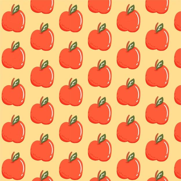 Modèle sans couture avec apple
