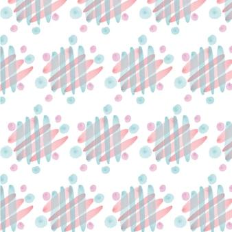 Modèle sans couture aquarelle abstraite de lignes obliques