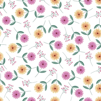 Modèle sans couture aquarelle daisy