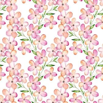Modèle sans couture aquarelle fleur de cerisier