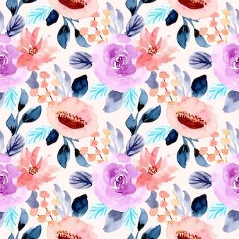 Modèle sans couture aquarelle de fleur
