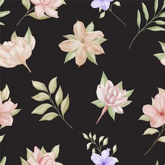 Modèle sans couture aquarelle floral élégant