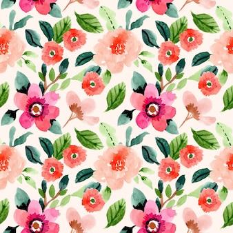 Modèle sans couture aquarelle floral de printemps