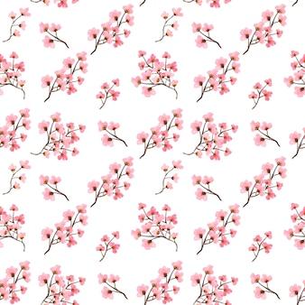 Modèle sans couture aquarelle floral rose