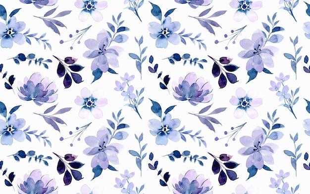 Modèle sans couture aquarelle floral violet doux