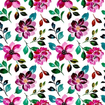 Modèle sans couture d'aquarelle floral violet