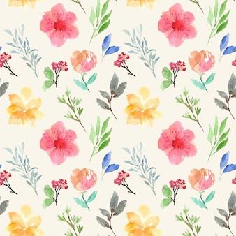 Modèle sans couture aquarelle floral