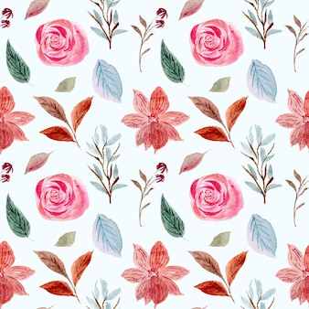 Modèle sans couture aquarelle rose floral