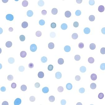 Modèle sans couture aquarelle taches circulaires abstraites