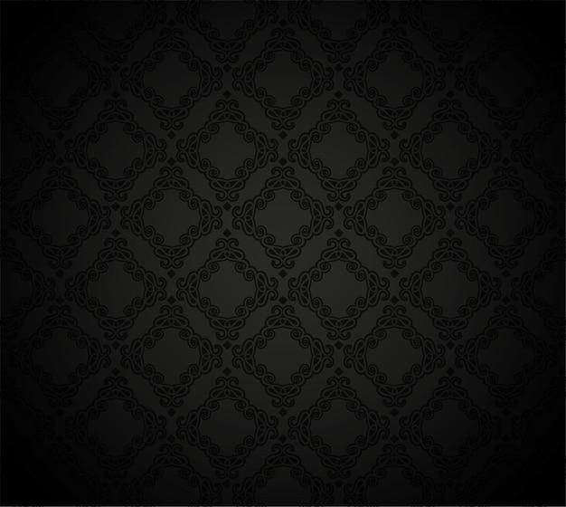 Modèle sans couture arabesque noire