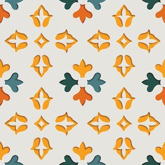 Modèle sans couture arabesque ornementale floral oriental. fond de style papier motif oriental