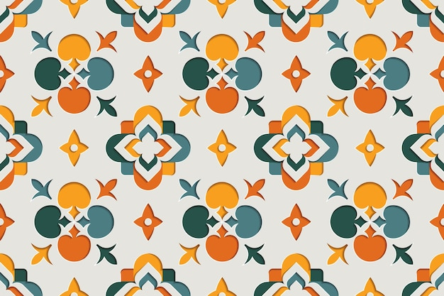 Modèle sans couture arabesque ornementale orientale. fond de style papier motif oriental