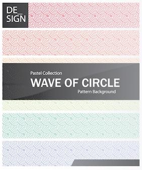 Modèle sans couture arc-en-ciel abstrait échelles simple vague de motif de cercle.