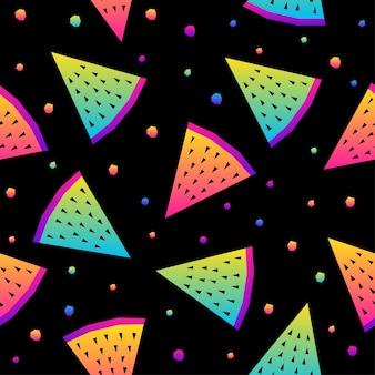 Modèle sans couture arc-en-ciel abstrait. fond d'échantillon moderne pour carte d'anniversaire, invitation de fête d'enfants, papier peint, papier d'emballage de vacances, affiche de vente de magasin, impression de sac, t-shirt, publicité d'atelier