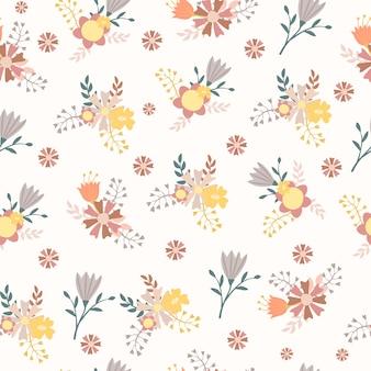 Modèle sans couture arrangement floral