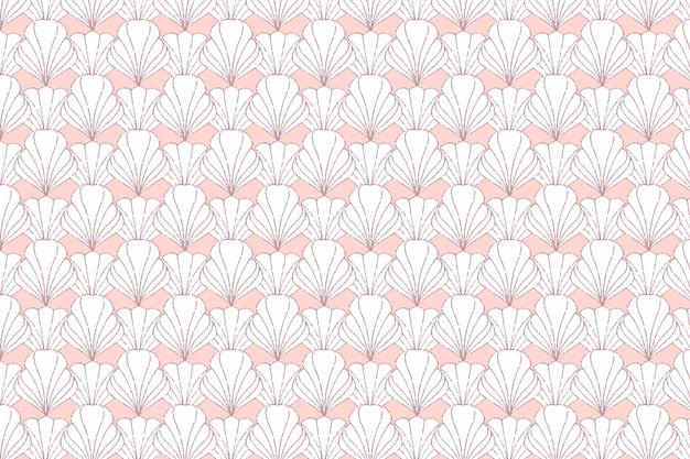 Modèle sans couture art déco or rose
