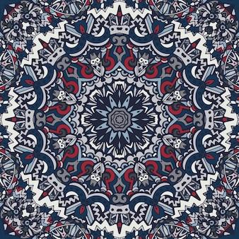 Modèle sans couture d'art de festival. imprimé géométrique ethnique. texture de fond répétitif coloré.