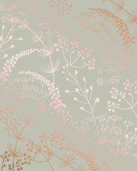 Modèle sans couture art ligne florale avec des formes de feuilles
