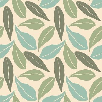Modèle sans couture artistique avec des feuilles abstraites.