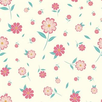 Modèle sans couture assez floral