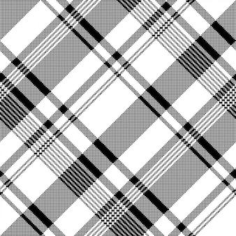 Modèle sans couture asymétrique de pixel de texture de tissu blanc noir