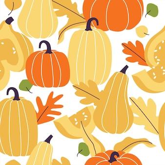 Modèle sans couture automne. articles de la saison d'automne