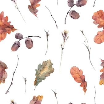 Modèle sans couture automne botanique
