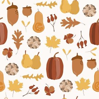 Modèle sans couture automne avec citrouille.
