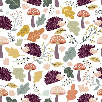 Modèle sans couture automne avec un design saisonnier
